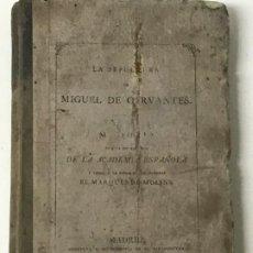 Libros antiguos: LA SEPULTURA DE MIGUEL DE CERVANTES. MEMORIA, MADRID, 1870. GENEALOGÍA . Lote 194527501