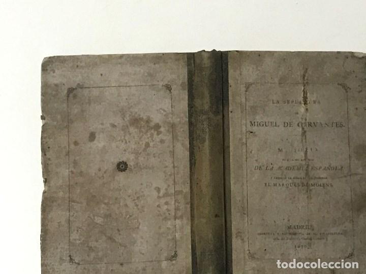 Libros antiguos: La Sepultura de Miguel de Cervantes. Memoria, Madrid, 1870. Genealogía - Foto 2 - 194527501