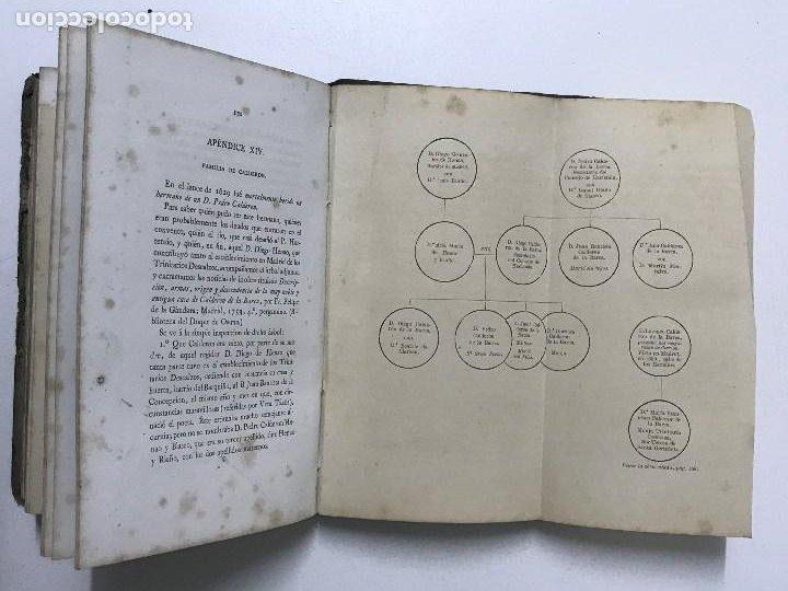 Libros antiguos: La Sepultura de Miguel de Cervantes. Memoria, Madrid, 1870. Genealogía - Foto 8 - 194527501