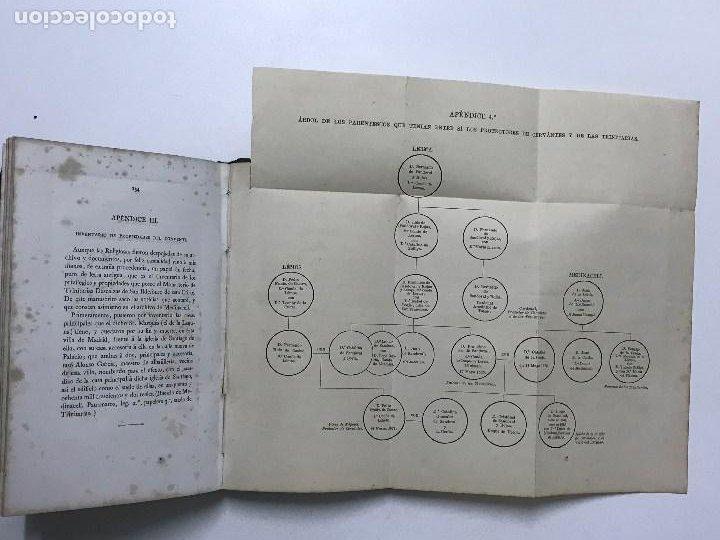 Libros antiguos: La Sepultura de Miguel de Cervantes. Memoria, Madrid, 1870. Genealogía - Foto 9 - 194527501