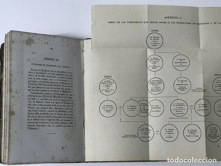 Libros antiguos: La Sepultura de Miguel de Cervantes. Memoria, Madrid, 1870. Genealogía - Foto 10 - 194527501
