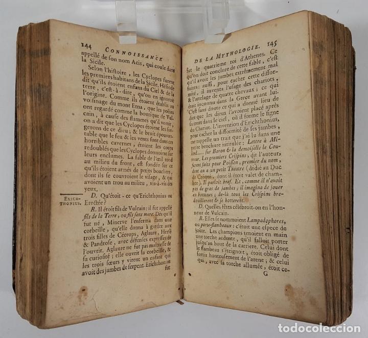Libros antiguos: CONNOISSANCE DE LA MYTHOLOGIE PAR DEMANDES ET PAR RÉPONSES. LES FRERES PERISSE LYON. 1782. - Foto 11 - 148156070