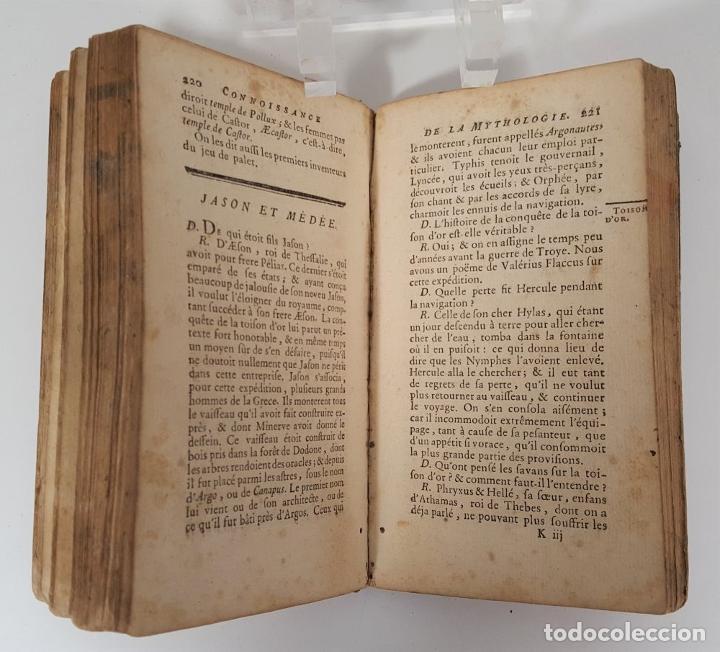 Libros antiguos: CONNOISSANCE DE LA MYTHOLOGIE PAR DEMANDES ET PAR RÉPONSES. LES FRERES PERISSE LYON. 1782. - Foto 12 - 148156070