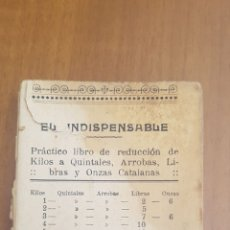 Libros antiguos: LIBRO DE CUENTAS AJUSTADAS KILOS QUILATES ARROBAS LIBRAS Y ONZAS CATALANAS. Lote 194552668