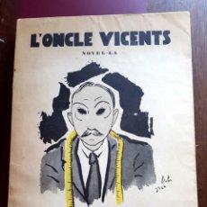 Libros antiguos: SALVADOR DALÍ - 1926 - L'ONCLE VICENTS - J.PUIG PUJADES. Lote 194580973