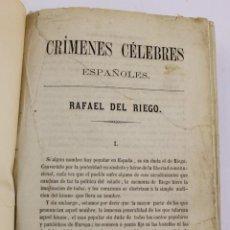 Libros antiguos: L-5445. CRIMENES CELEBRES ESPAÑOLES POR MANUEL ANGELON. LIBRERIA ESPAÑOLA, 1859.. Lote 194581236