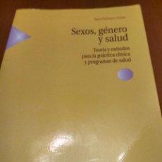 Libros antiguos: SEXOS,GÉNERO Y SALUD. Lote 194606861
