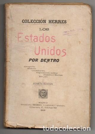 LOS ESTADO UNIDOS POR DENTRO. COLECCIÓN HERRES - A-AM-739 (Libros Antiguos, Raros y Curiosos - Historia - Otros)