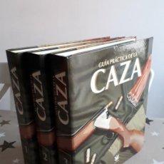 Libros antiguos: GUIA PRÁCTICA DE LA CAZA 3 TOMOS. Lote 194637383
