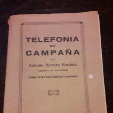 Libros antiguos: TELEFONÍA DE CAMPAÑA. Lote 194648181
