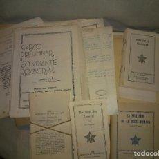 Libros antiguos: DOCUMENTOS MANUSCRITOS SECTA ROSACRUZ AÑOS 1938-1939.. Lote 194652900
