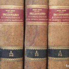 Libros antiguos: PRIMER DICCIONARIO ETIMOLÓGICO DE LA LENGUA CASTELLANA. ROQUE BARCIA. 1880. Lote 194658640