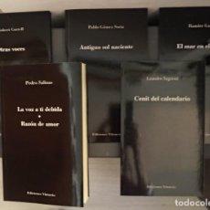 Libros antiguos: LA VOZ A TI DEBIDA/RAZÓN DE AMOR DE PEDRO SALINAS Y OTROS 4 LIBROS DE LA MEJOR POESÍA ESPAÑOLA. Lote 194665250