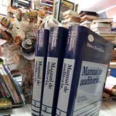 Libros antiguos: MANUAL DE AUDITORIA 1-2 Y3 VARIOS AUTORES . Lote 194665821
