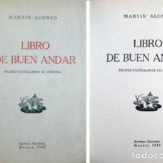 Libros antiguos: ALONSO PEDRAZ, MARTÍN. EL LIBRO DE BUEN ANDAR. PROSAS CASTELLANAS DE ROMERÍA. 1942.. Lote 194670798