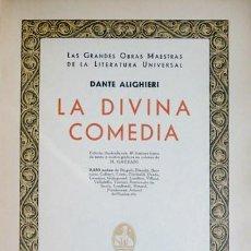 Libros antiguos: ALIGHIERI, DANTE. LA DIVINA COMEDIA. 1933.. Lote 194675330