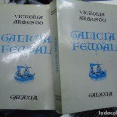Libros antiguos: GALICIA FEUDAL 2 TOMOS. VICTORIA ARMESTO. EDITORIAL GALAXIA. 1ª EDICIÓN 1969. 733 PÁG EN TOTAL. RÚS. Lote 194678833