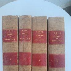 Libros antiguos: 4 TOMOS. TRAITE DE METALLURGIE. 1864. METALURGIA. Lote 194699255