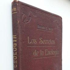 Libros antiguos: LOS SECRETOS DE LA ENOLOGÍA DE ROSENDO BOFILL JACAS. ÚNICA EDICIÓN. Lote 194700257