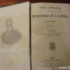 Libros antiguos: MARTINEZ DE LA ROSA. OBRAS COMPLETAS. 5 TOMOS 1844. COMPLETO. Lote 194717093