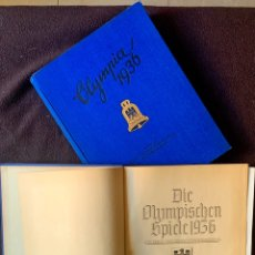Libros antiguos: 1936, OLIMPIADAS DE BERLÍN. 2 VOL. OLYMPIA 1936. XI JUEGOS OLÍMPICOS. Lote 194768597