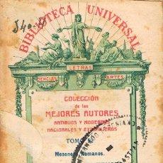 Libros antiguos: MESONERO ROMANOS (EL CURIOSO PARLANTE): ESCENAS MATRITENSES, BIBLIOTECA UNIVERSAL Nº 52, AÑO 1918. Lote 194775242