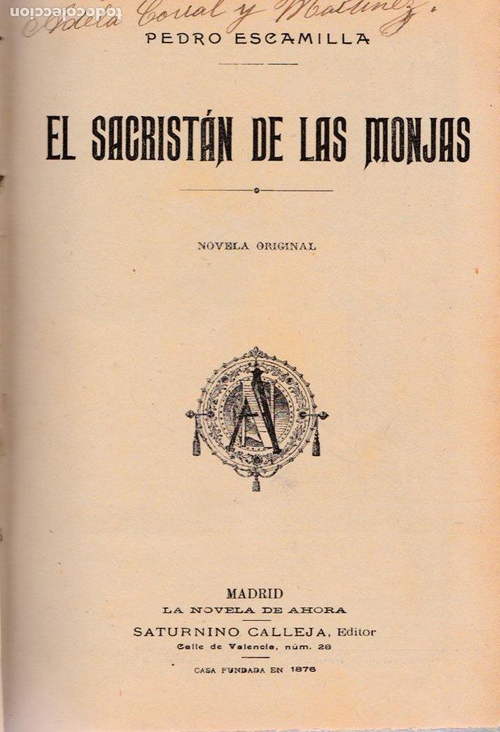 Libros antiguos: El sacristán de las monjas – La maldita vanidad – La casa de las mil brujas -Brígida. - Foto 2 - 194858727