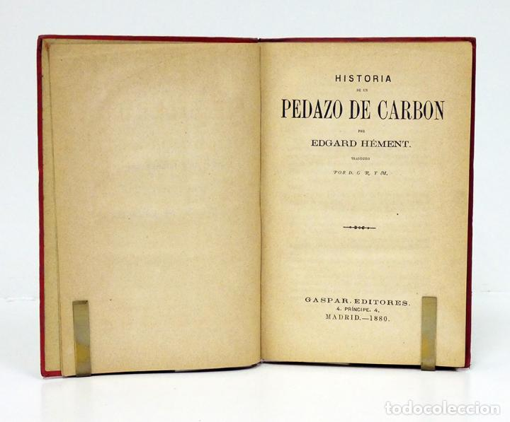 Libros antiguos: HÉMENT (Edgard).– Historia de un pedazo de carbón. Biblioteca Científica Recreativa, 1880. Ilustrado - Foto 2 - 194870648