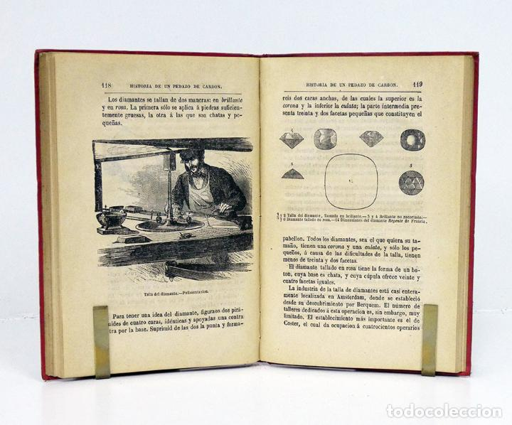 Libros antiguos: HÉMENT (Edgard).– Historia de un pedazo de carbón. Biblioteca Científica Recreativa, 1880. Ilustrado - Foto 4 - 194870648