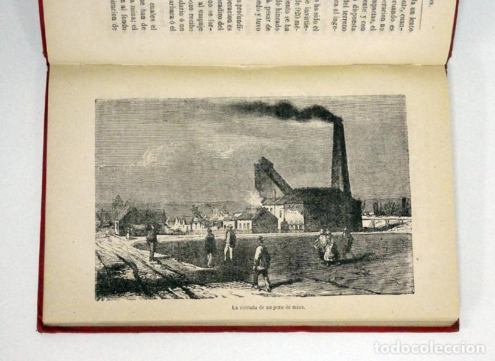 Libros antiguos: HÉMENT (Edgard).– Historia de un pedazo de carbón. Biblioteca Científica Recreativa, 1880. Ilustrado - Foto 5 - 194870648