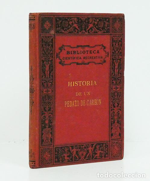 HÉMENT (EDGARD).– HISTORIA DE UN PEDAZO DE CARBÓN. BIBLIOTECA CIENTÍFICA RECREATIVA, 1880. ILUSTRADO (Libros Antiguos, Raros y Curiosos - Ciencias, Manuales y Oficios - Otros)