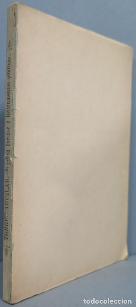 1901.- PROGRAMA Y PLAN DE LAS LECCIONES DE PRACTICA FORENSE (Libros Antiguos, Raros y Curiosos - Ciencias, Manuales y Oficios - Otros)