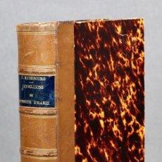Libros antiguos: LES MILLIONS DE MONSIEUR JORAMIE, EMILE RICHEBOURG. 1885. ENCUADERNACIÓN EN MEDIA PIEL, CON NERVIOS . Lote 194876560