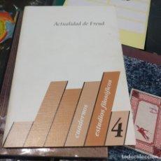Libros antiguos: CUADERNOS DE ESTUDIOS FILOSOFICOS 4. ACTUALIDAD DE FREUD. Lote 194876765