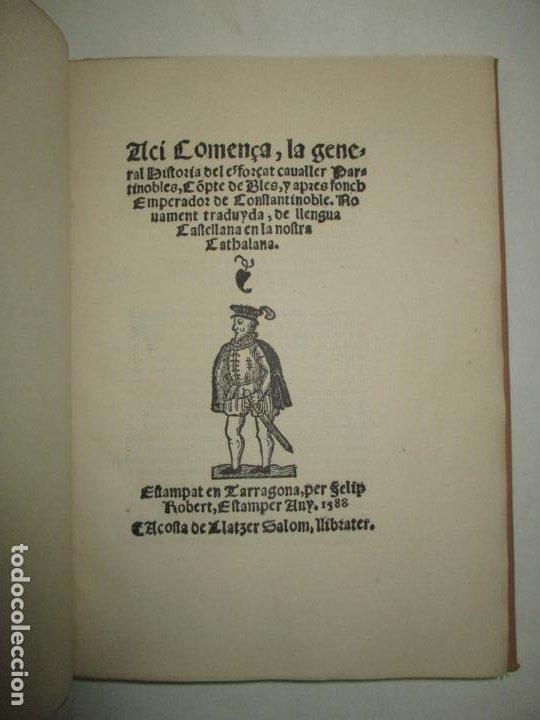 Libros antiguos: HISTORIA DE LESFORÇAT CAVALLER PARTINOBLES. 1912. - Foto 3 - 194878683