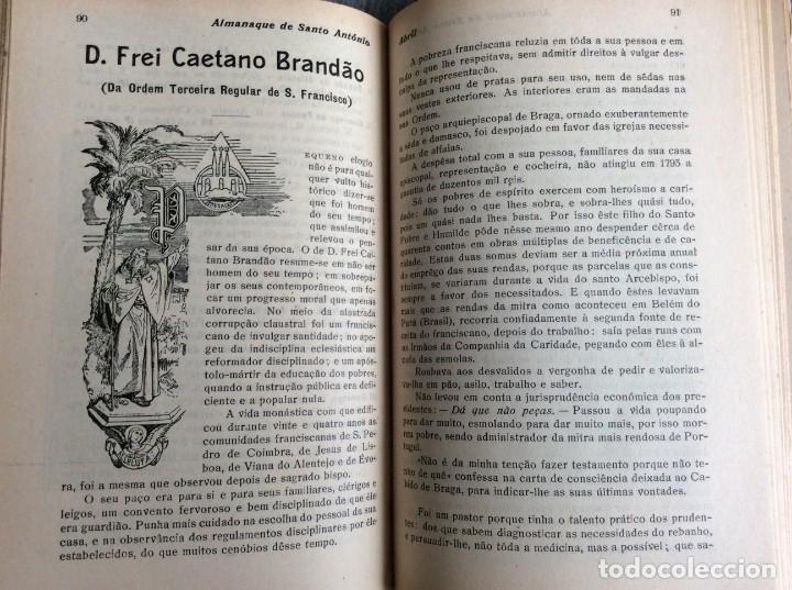 Libros antiguos: Almanaque de Santo António, 1925. Muy escaso. Envio grátis - Foto 4 - 194878973