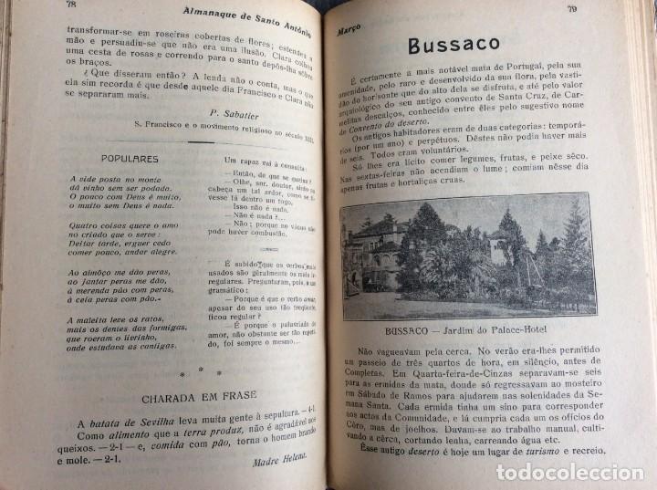 Libros antiguos: Almanaque de Santo António, 1925. Muy escaso. Envio grátis - Foto 5 - 194878973