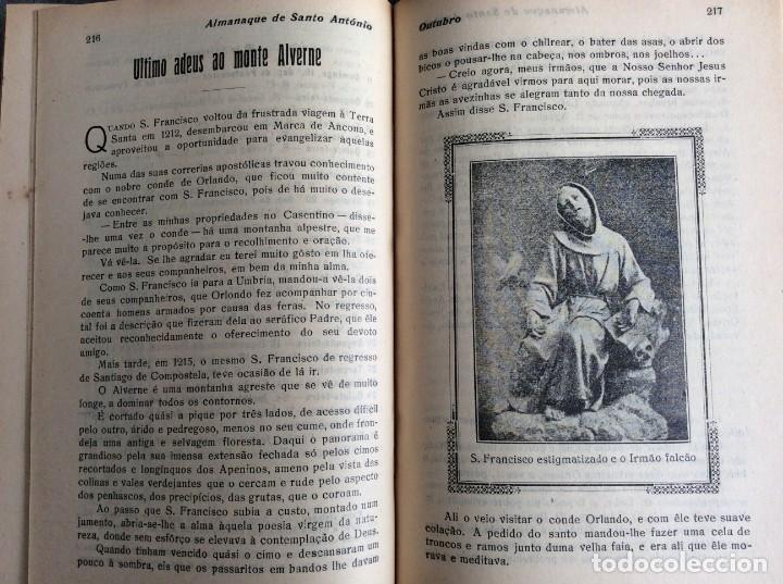 Libros antiguos: Almanaque de Santo António, 1925. Muy escaso. Envio grátis - Foto 7 - 194878973