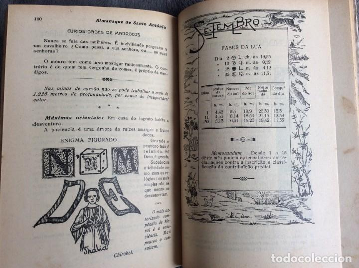 Libros antiguos: Almanaque de Santo António, 1925. Muy escaso. Envio grátis - Foto 8 - 194878973