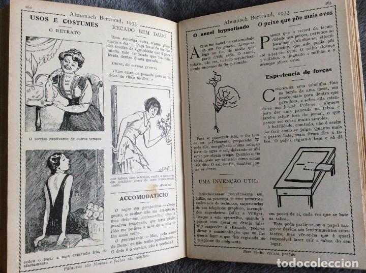 Libros antiguos: Almanach Bertrand, ano 1933. Envio grátis. - Foto 3 - 194882885