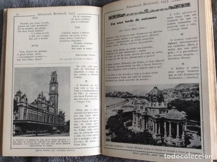 Libros antiguos: Almanach Bertrand, ano 1933. Envio grátis. - Foto 4 - 194882885
