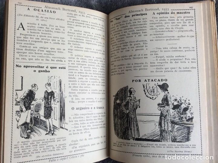 Libros antiguos: Almanach Bertrand, ano 1933. Envio grátis. - Foto 5 - 194882885