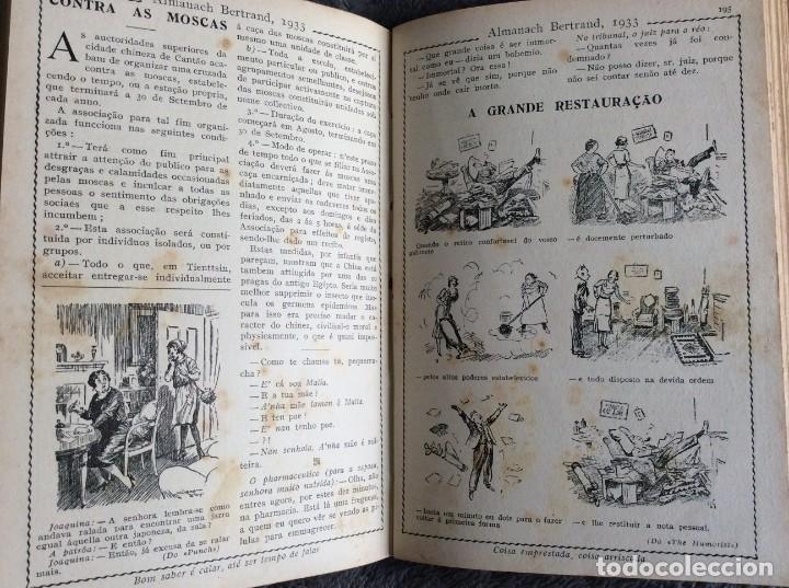 Libros antiguos: Almanach Bertrand, ano 1933. Envio grátis. - Foto 7 - 194882885