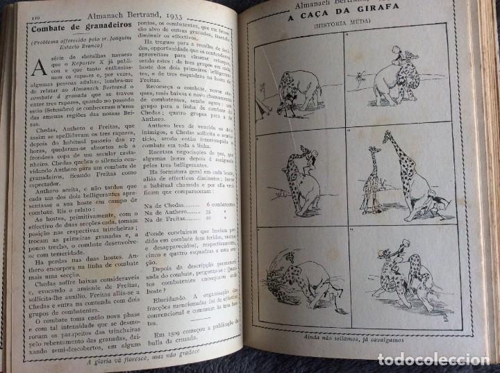 Libros antiguos: Almanach Bertrand, ano 1933. Envio grátis. - Foto 8 - 194882885