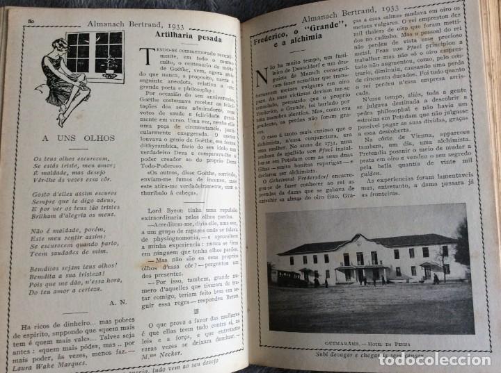 Libros antiguos: Almanach Bertrand, ano 1933. Envio grátis. - Foto 9 - 194882885