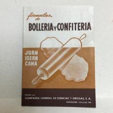 Libros antiguos: ANTIGUO LIBRO DE FORMULAS DE BOLLERIA Y CONFITERIA. Lote 194883521