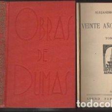 Libros antiguos: VEINTE AÑOS DESPUES TOMOS I AL 5 Y JUANA DE ARCO. (3 TOMOS) - DUMAS, ALEJANDRO - A-NOV-1260. Lote 194889238