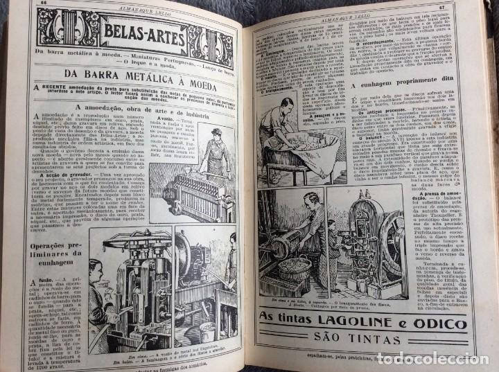 Libros antiguos: Almanaque Lello, 1935. ( historia, viajes, ciencia, pasatiempos, curiosidades, etc. ). Envio grátis - Foto 3 - 194889322
