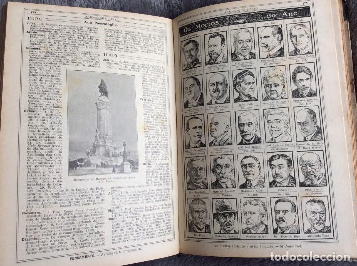 Libros antiguos: Almanaque Lello, 1935. ( historia, viajes, ciencia, pasatiempos, curiosidades, etc. ). Envio grátis - Foto 9 - 194889322