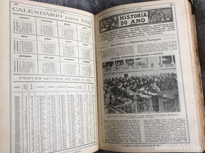 Libros antiguos: Almanaque Lello, 1935. ( historia, viajes, ciencia, pasatiempos, curiosidades, etc. ). Envio grátis - Foto 10 - 194889322